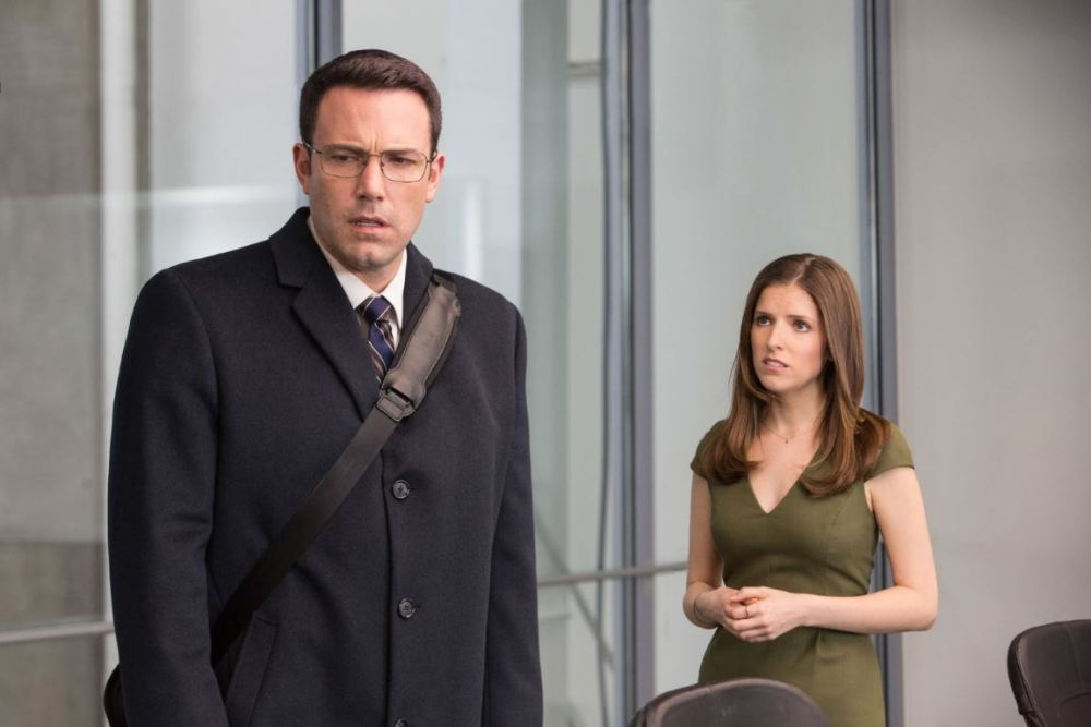 Despite the age difference Anna Kendrick is an affecting screen presence opposite Sad Affleck.